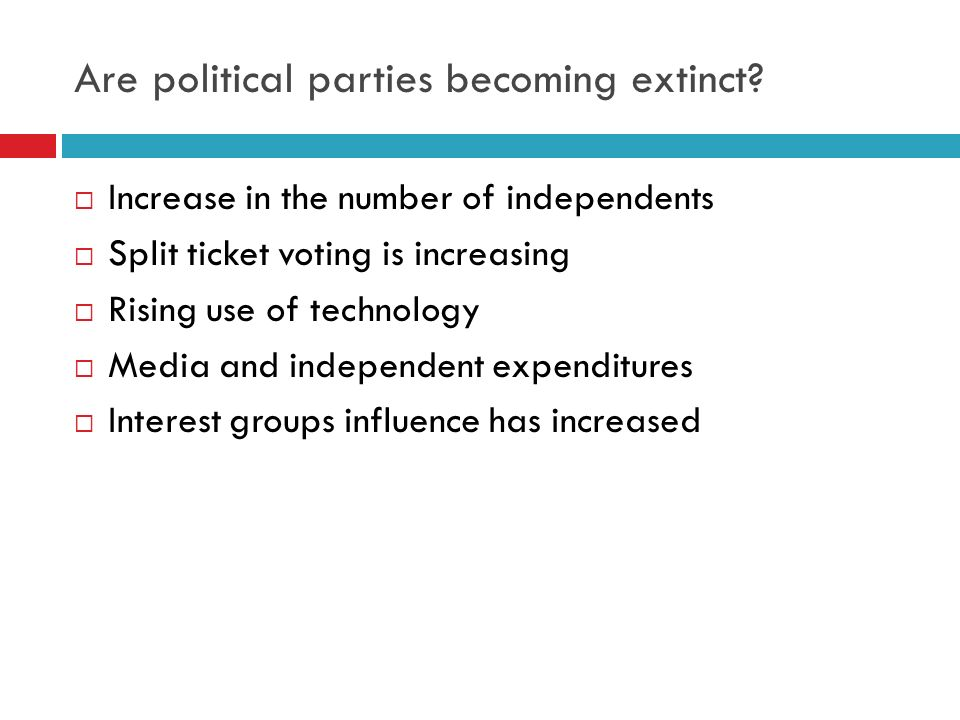 Are political parties becoming extinct
