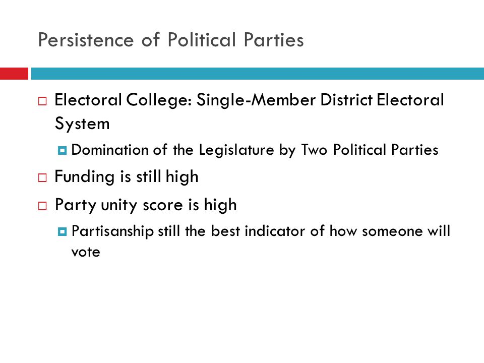Persistence of Political Parties
