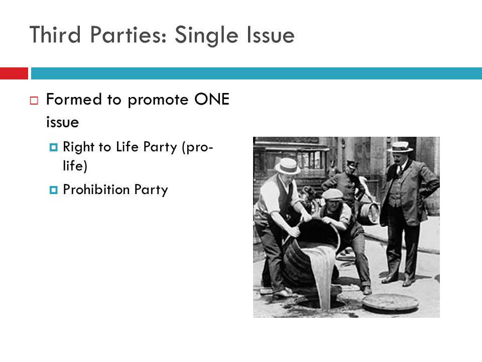Third Parties: Single Issue