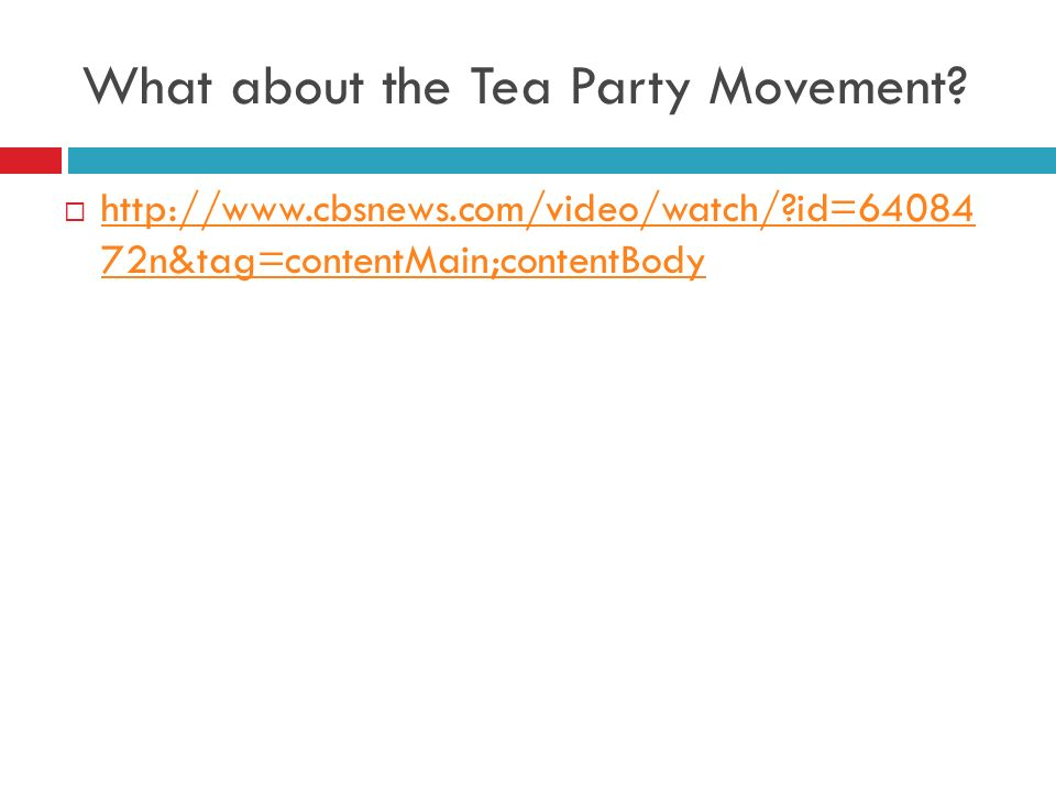 What about the Tea Party Movement