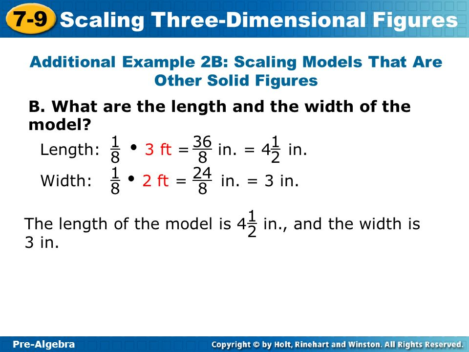 Additional Example 2B: Scaling Models That Are Other Solid Figures