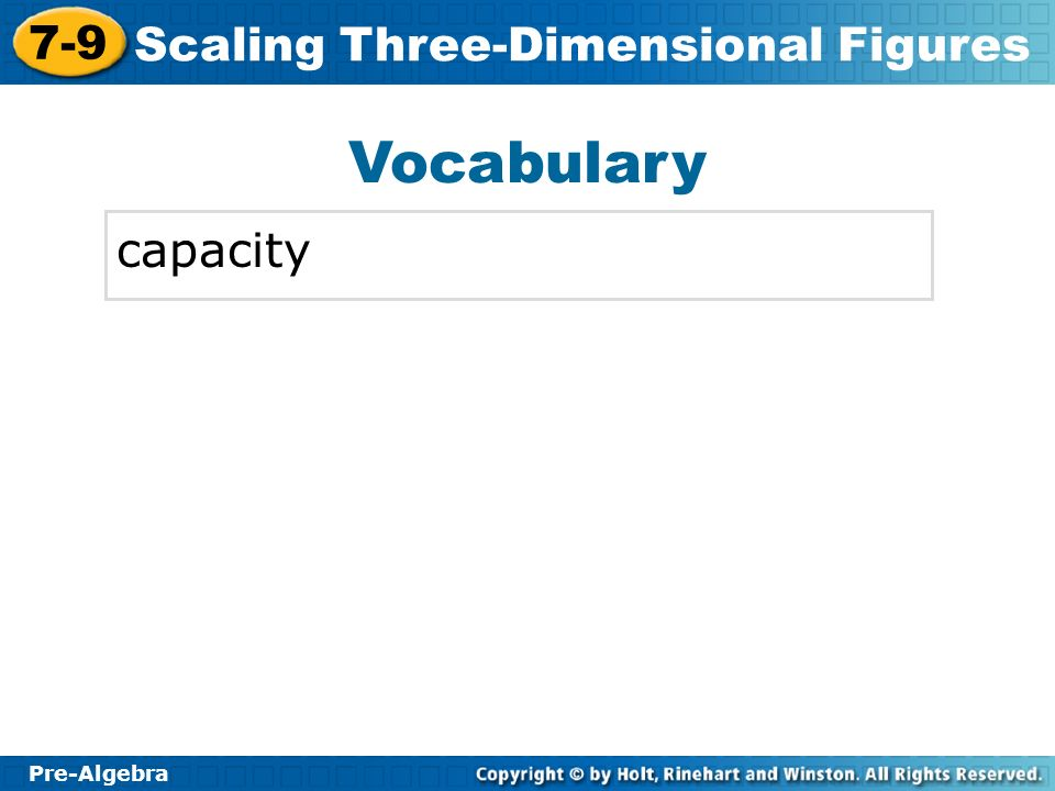 Vocabulary capacity