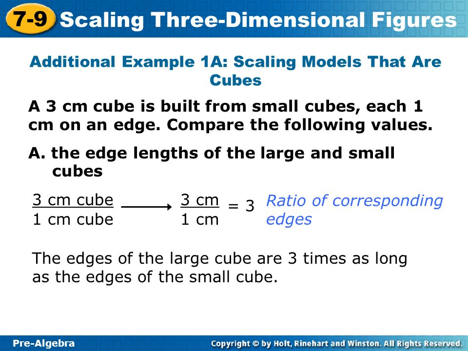 Additional Example 1A: Scaling Models That Are Cubes