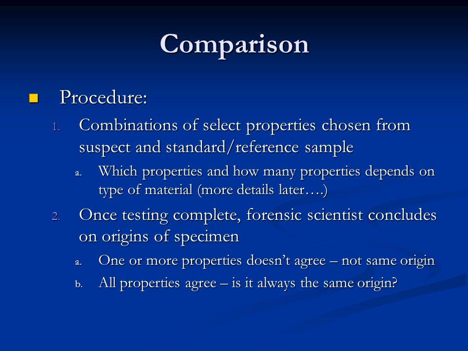 Comparison Procedure: