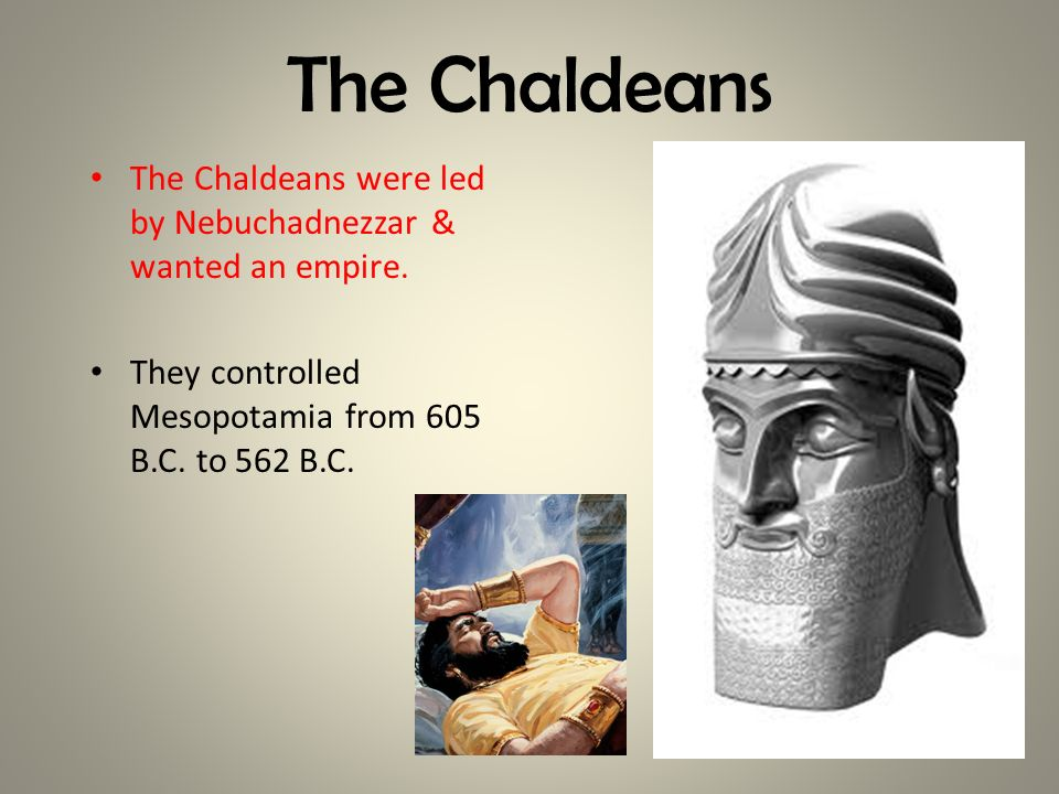 The Chaldeans The Chaldeans were led by Nebuchadnezzar & wanted an empire.