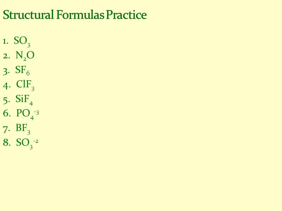 Structural Formulas Practice