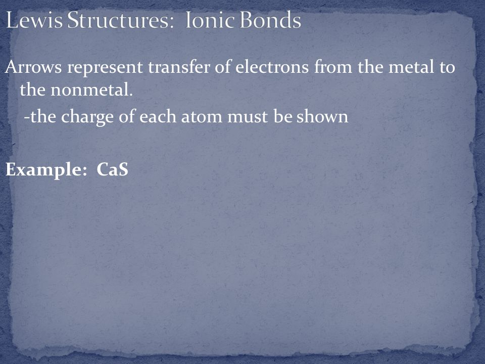 Lewis Structures: Ionic Bonds