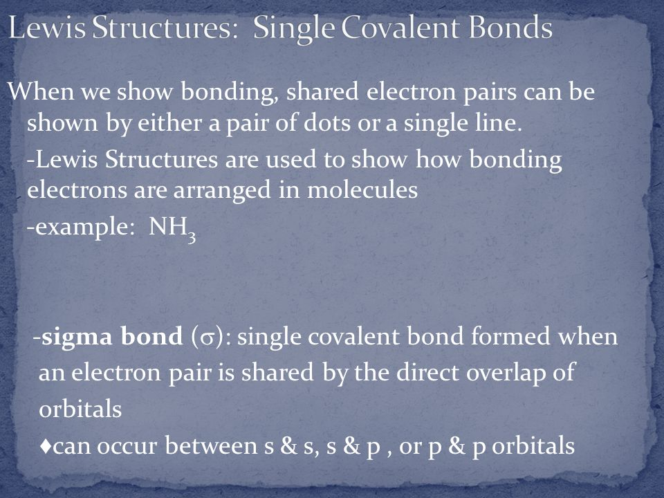 Lewis Structures: Single Covalent Bonds