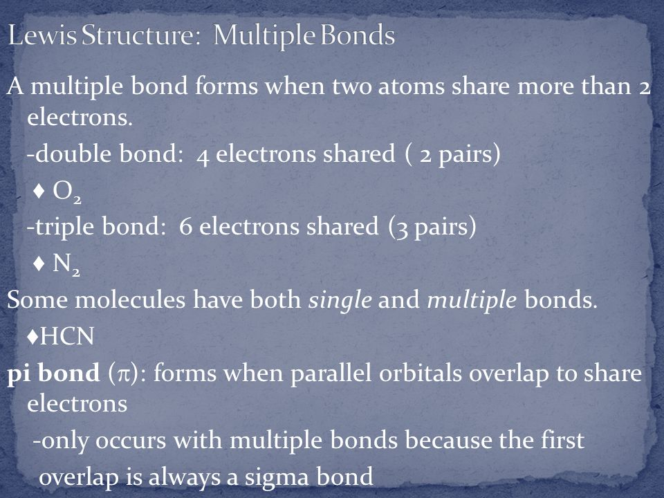 Lewis Structure: Multiple Bonds