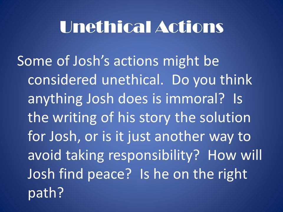 Unethical Actions