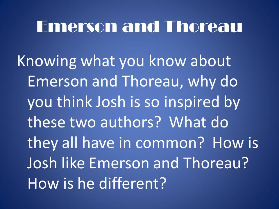 emerson thoreau essay questions