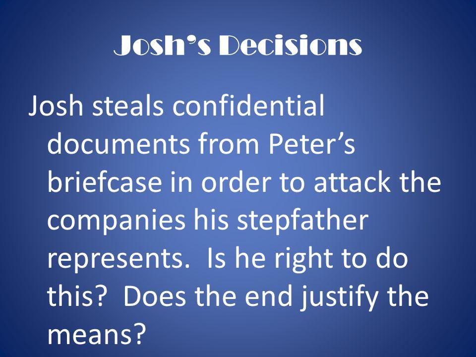 Josh's Decisions