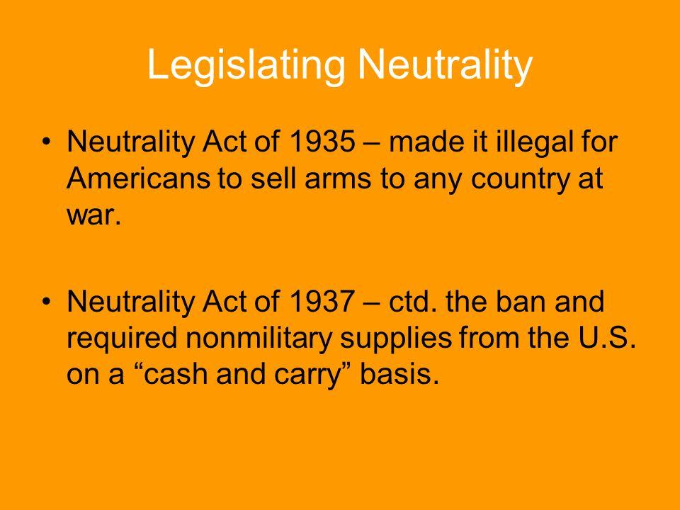 Legislating Neutrality