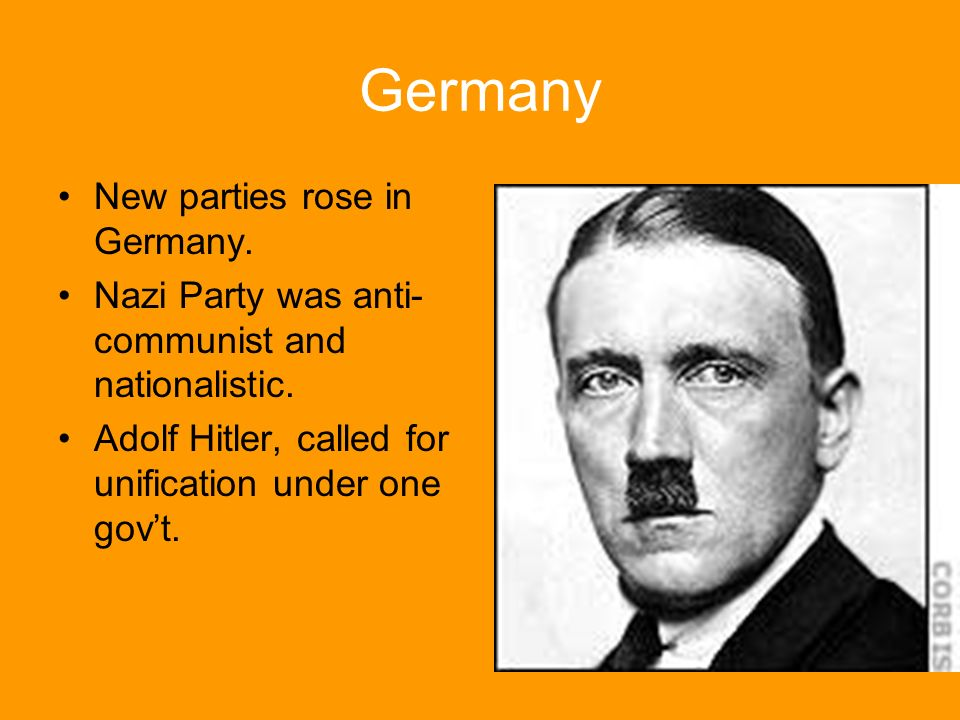 Germany New parties rose in Germany.