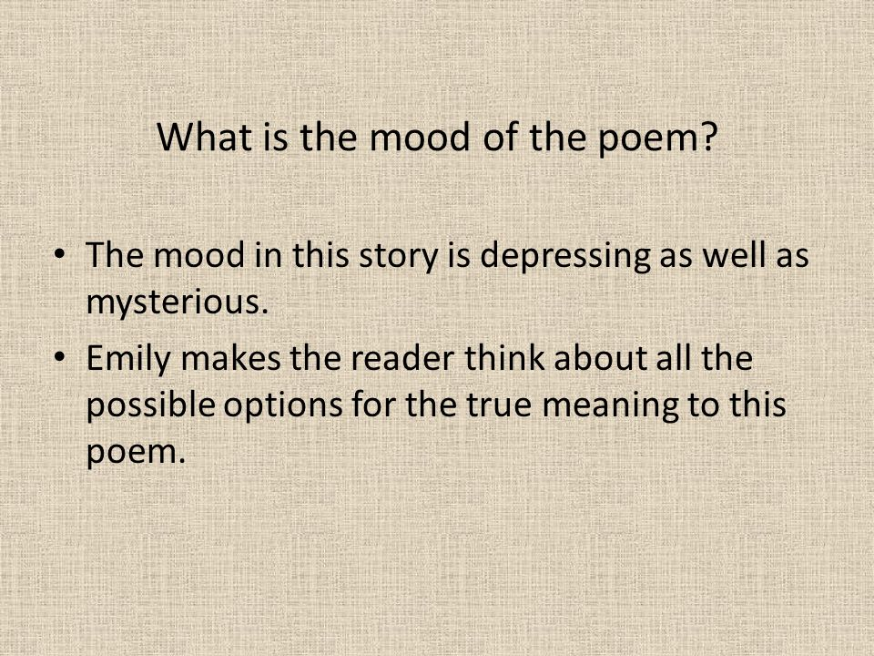 What is the mood of the poem