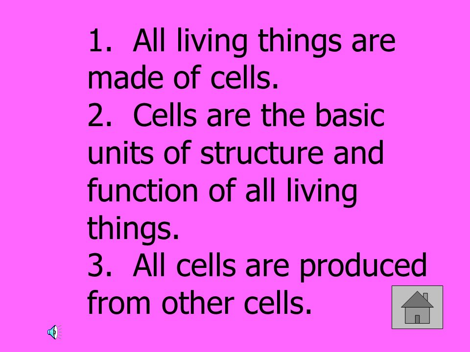 1. All living things are made of cells. 2