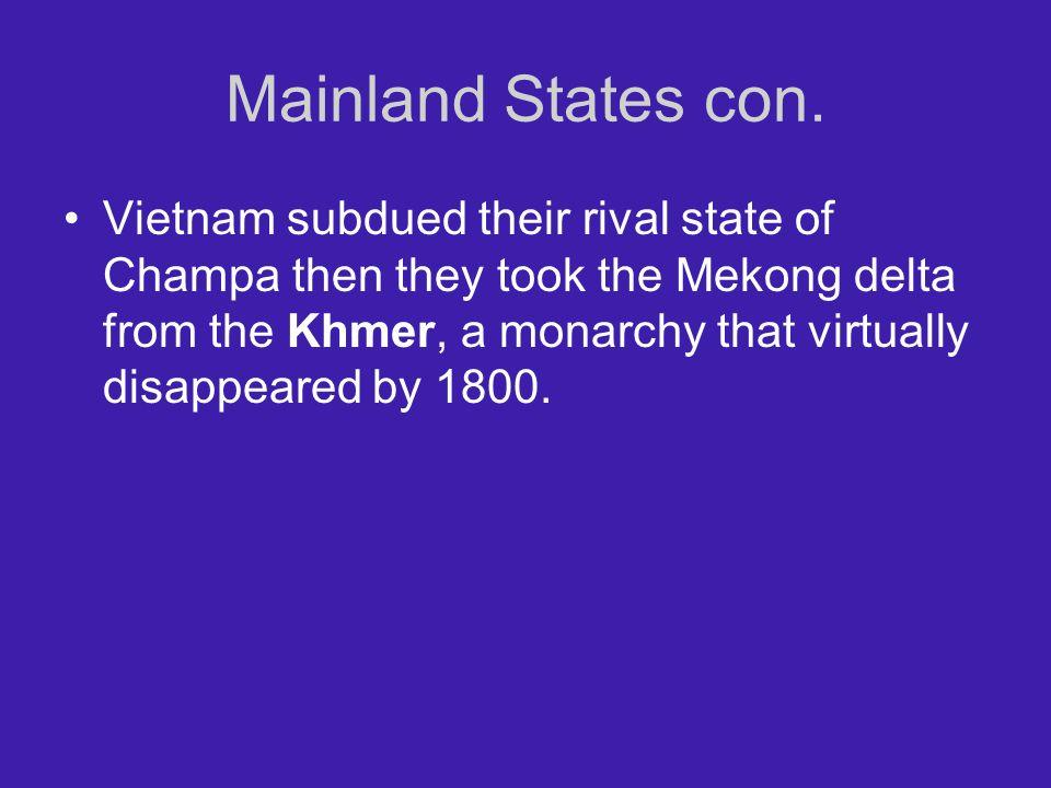 Mainland States con.