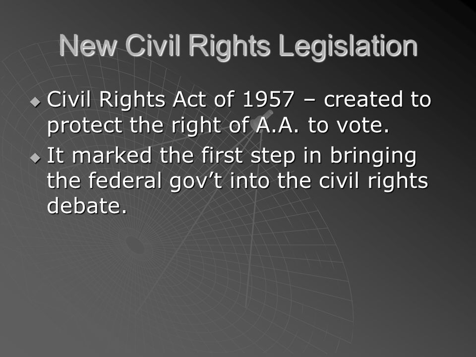 New Civil Rights Legislation