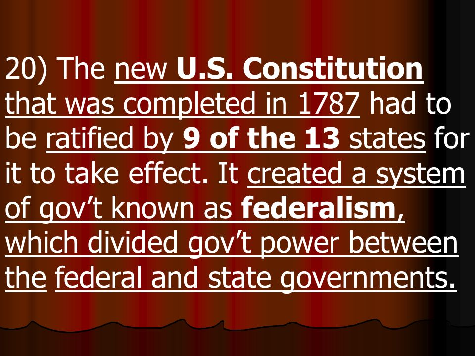20) The new U.S.