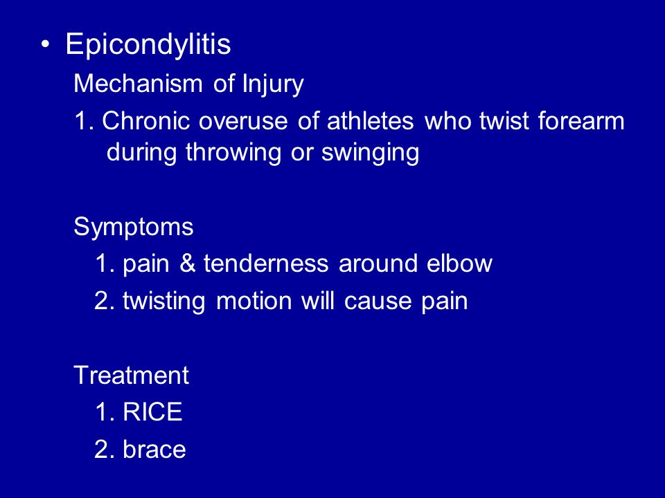 Epicondylitis Mechanism of Injury