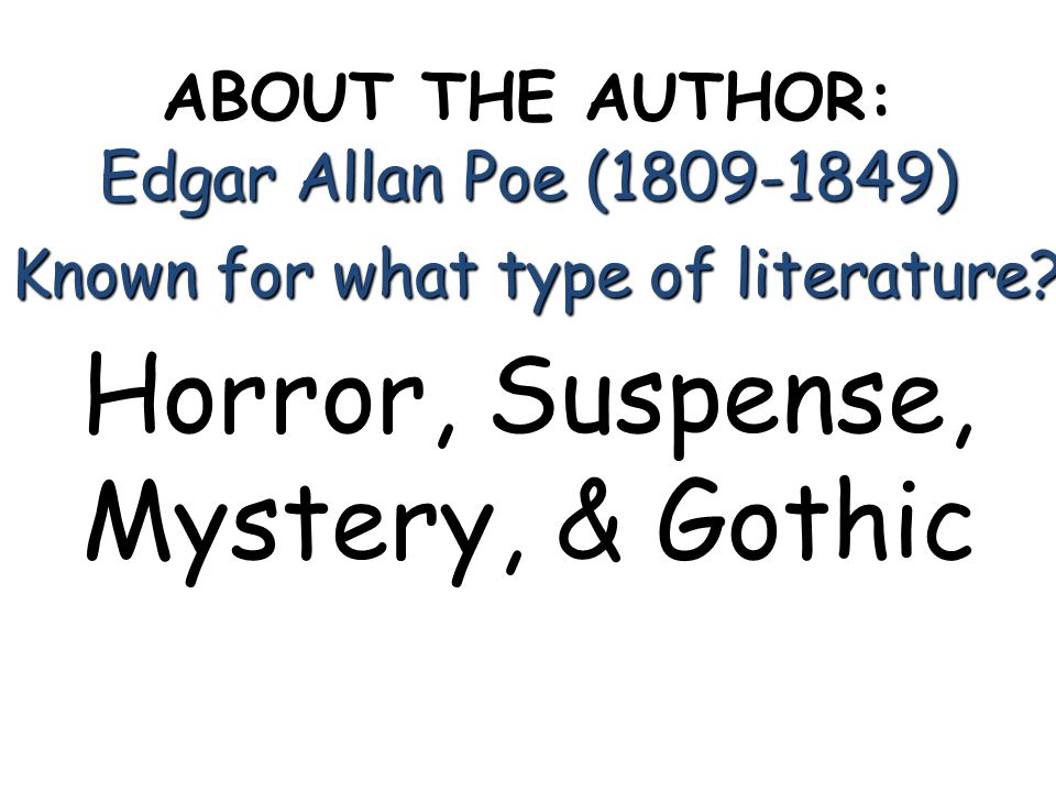 Horror, Suspense, Mystery, & Gothic