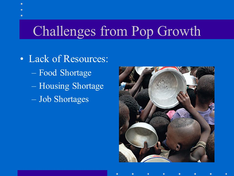 Challenges from Pop Growth
