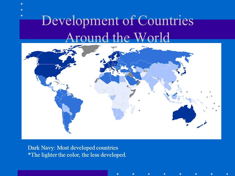 Development of Countries Around the World