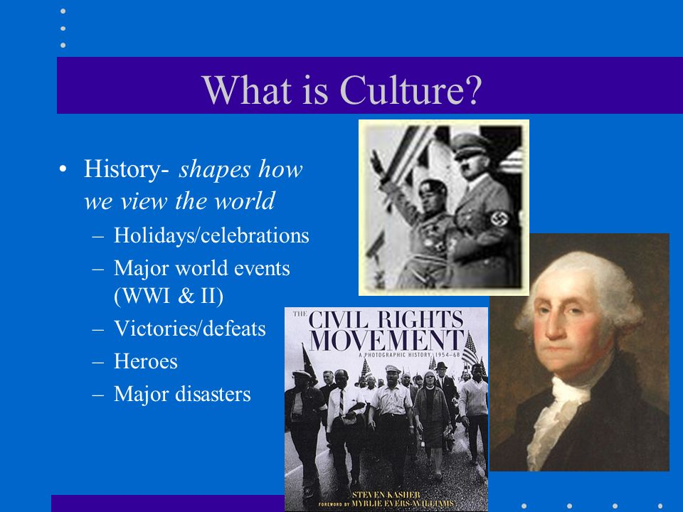 What is Culture History- shapes how we view the world