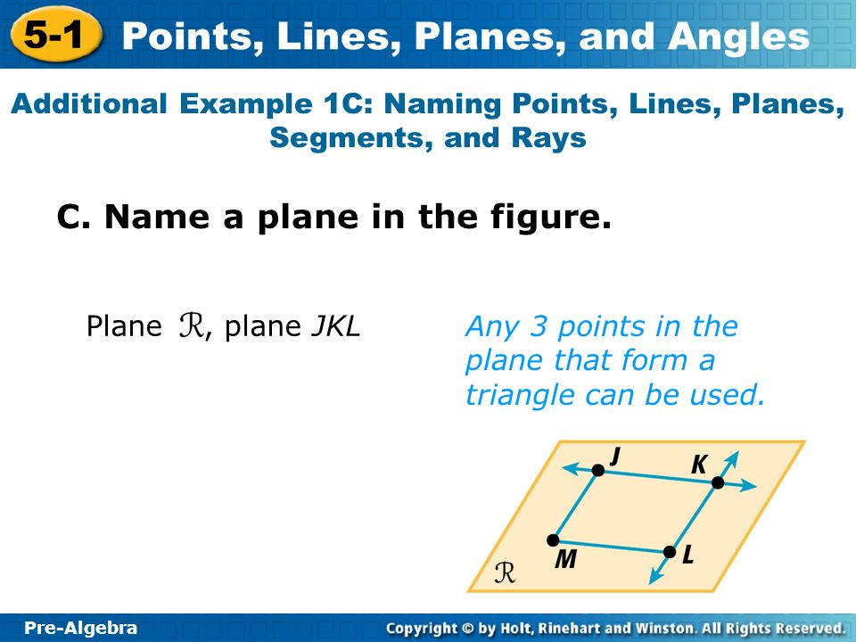 C. Name a plane in the figure.