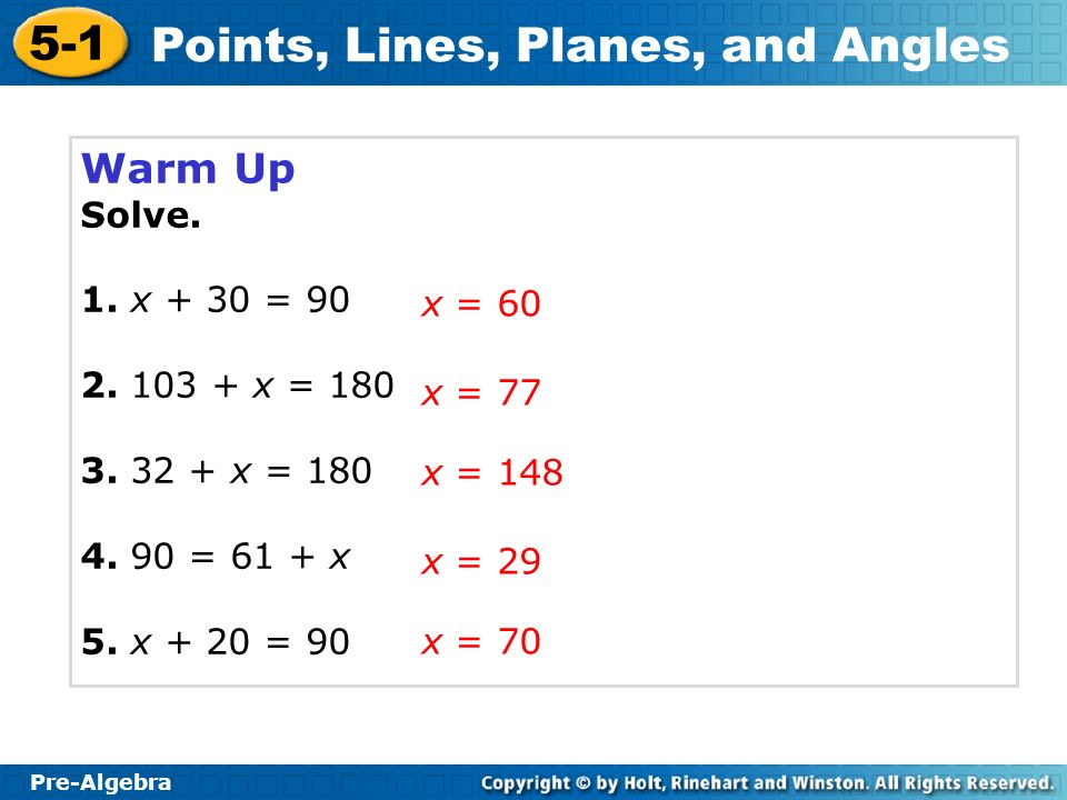 Points, Lines, Planes, and Angles
