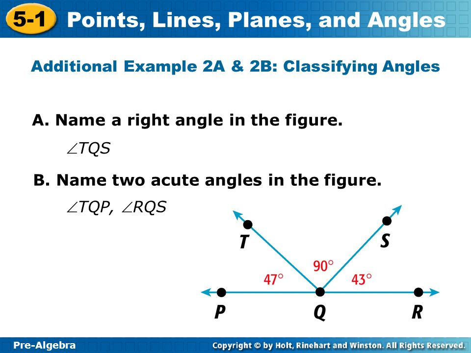 Additional Example 2A & 2B: Classifying Angles