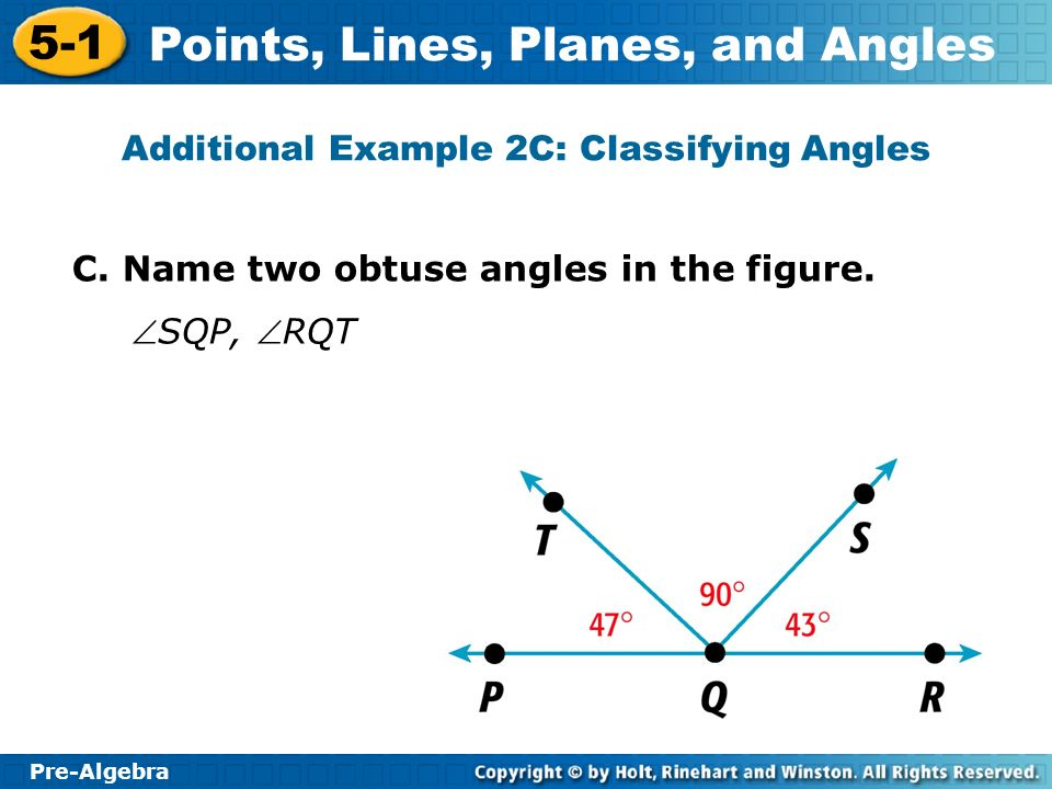 Additional Example 2C: Classifying Angles