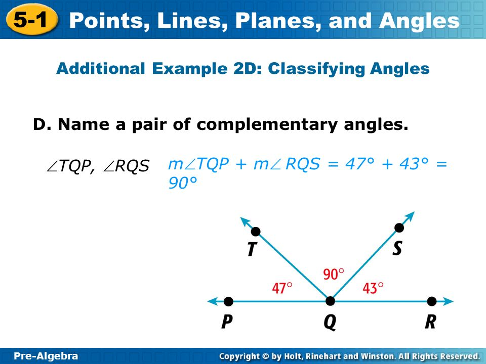 Additional Example 2D: Classifying Angles