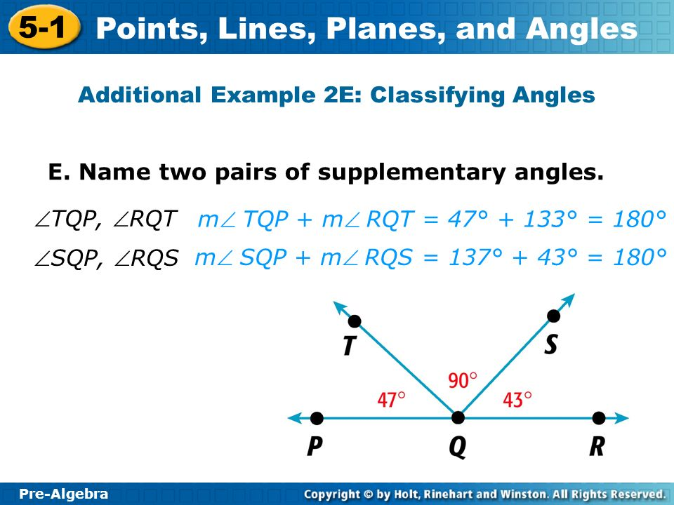 Additional Example 2E: Classifying Angles