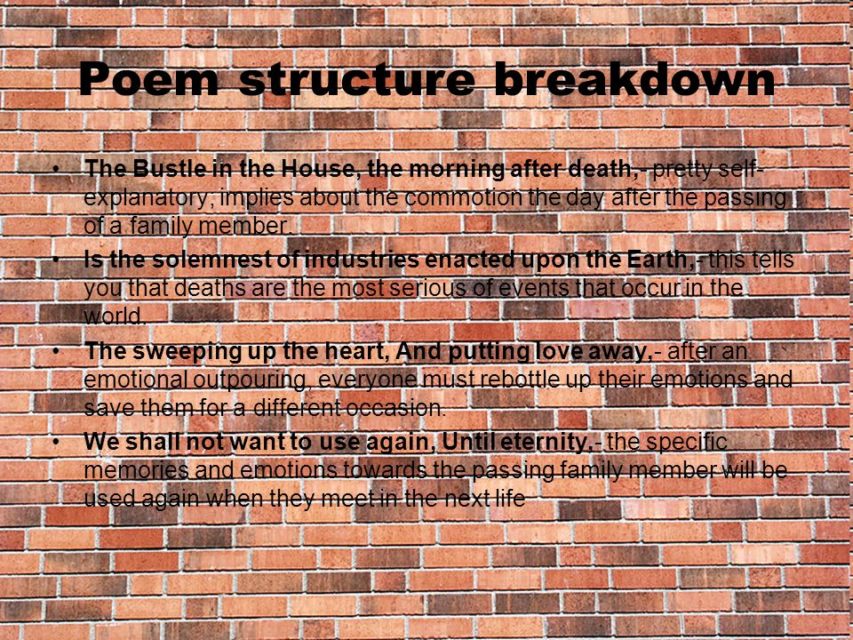 Poem structure breakdown