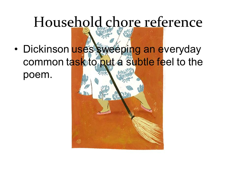 Household chore reference
