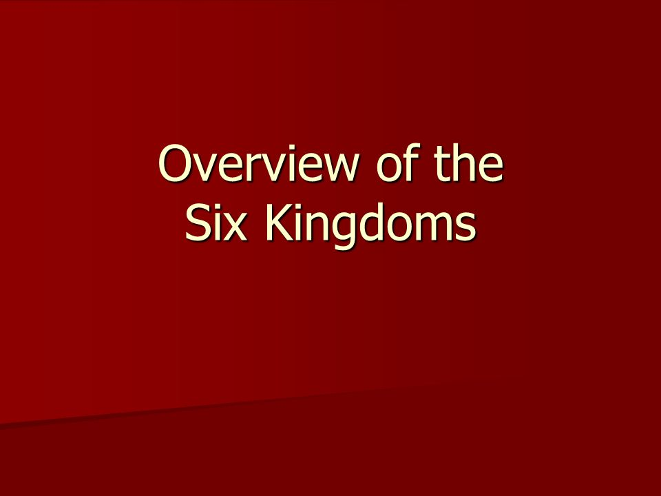 Overview of the Six Kingdoms