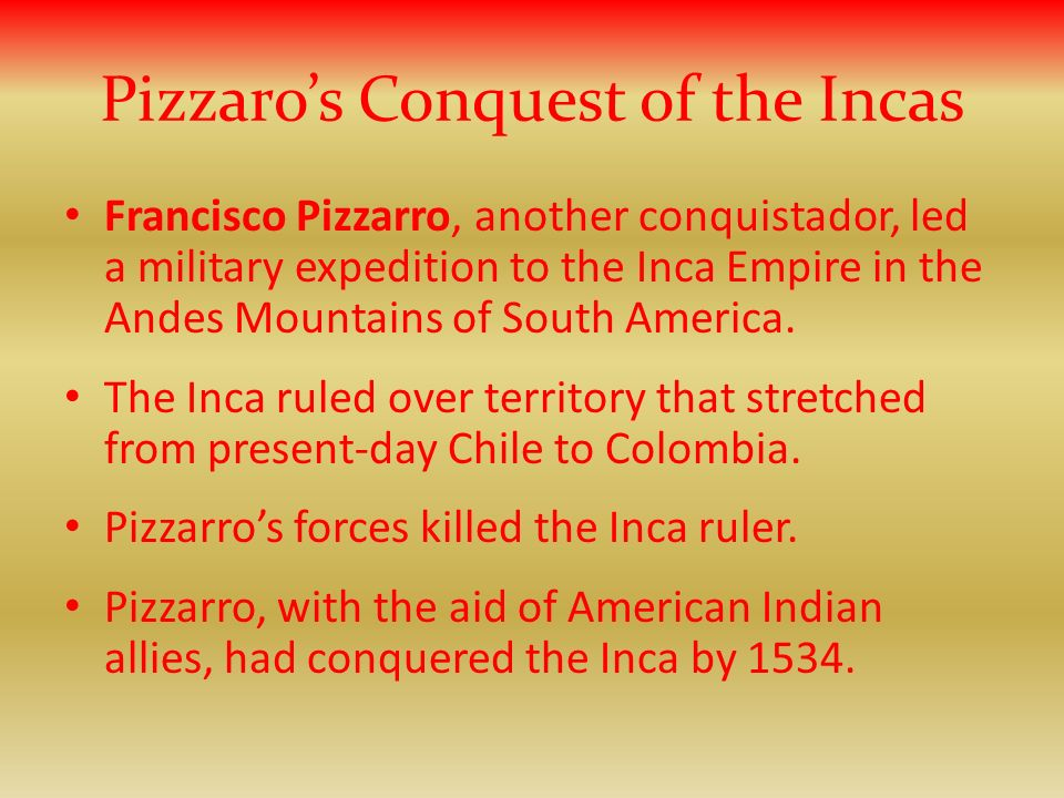 Pizzaro's Conquest of the Incas