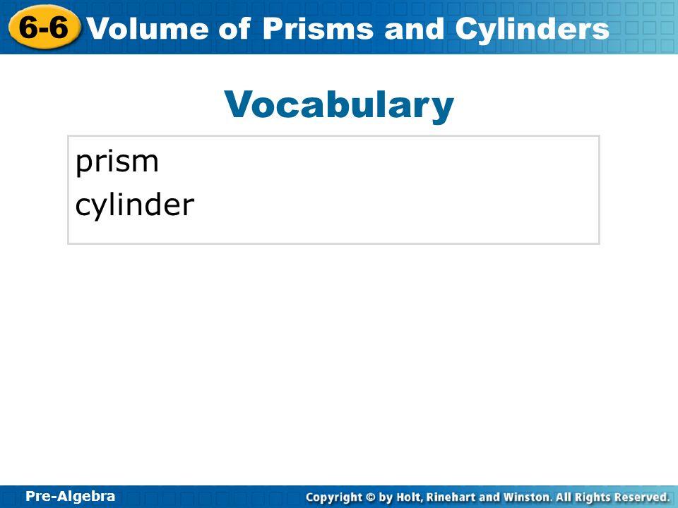 Vocabulary prism cylinder