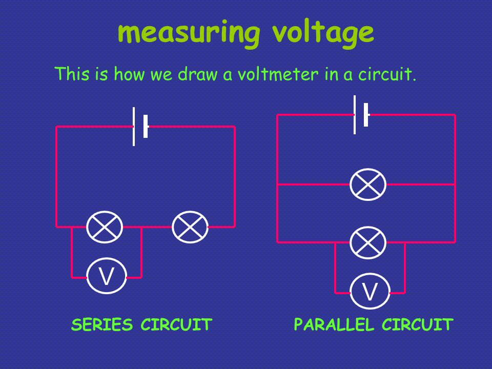 Voltmeter In Parallel : Electrical circuits ppt video online download