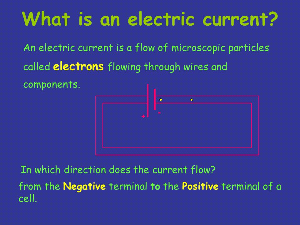 What is an electric current