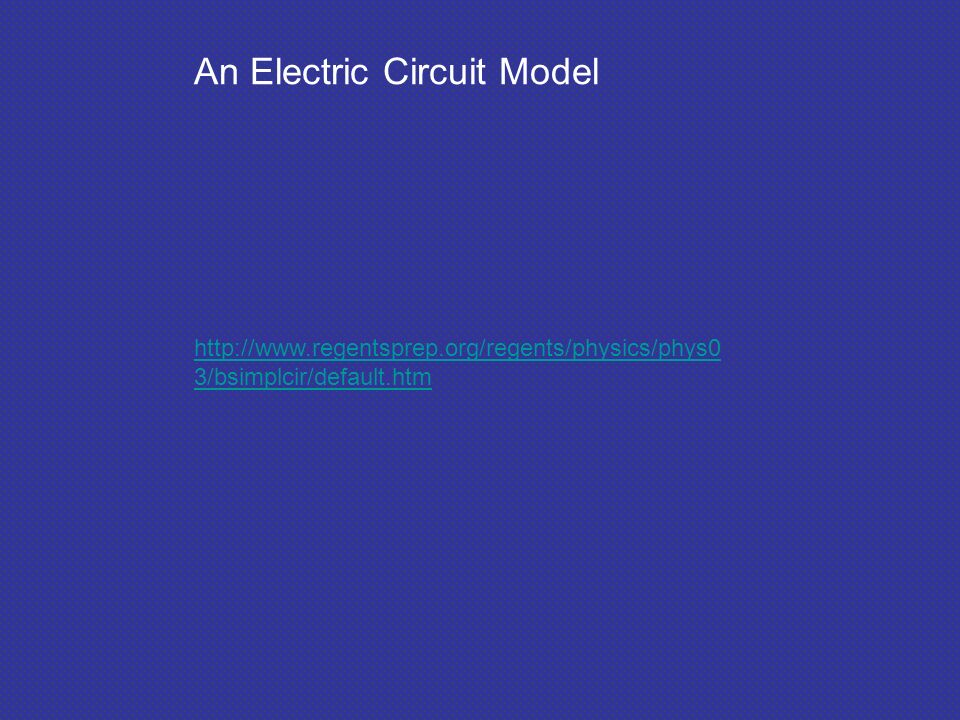 An Electric Circuit Model