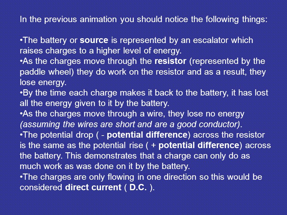 In the previous animation you should notice the following things: