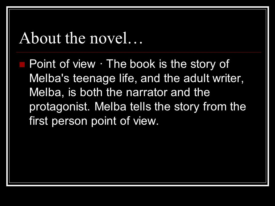 About the novel…