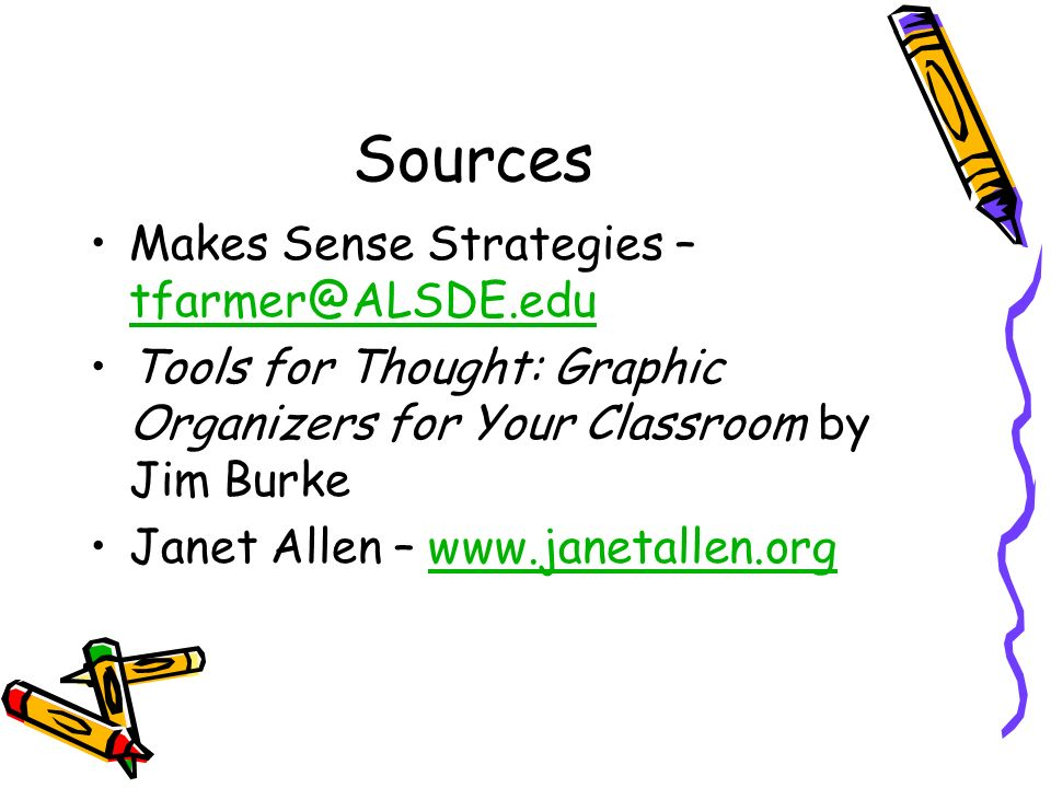 Sources Makes Sense Strategies – tfarmer@ALSDE.edu