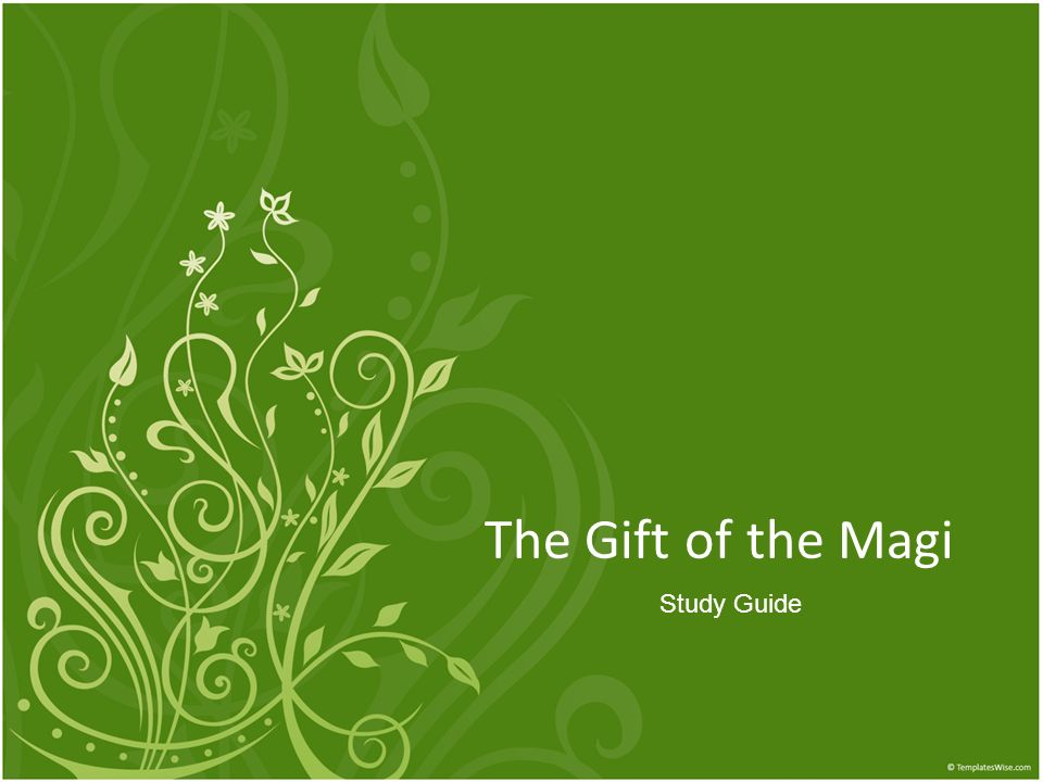 The Gift of the Magi Study Guide