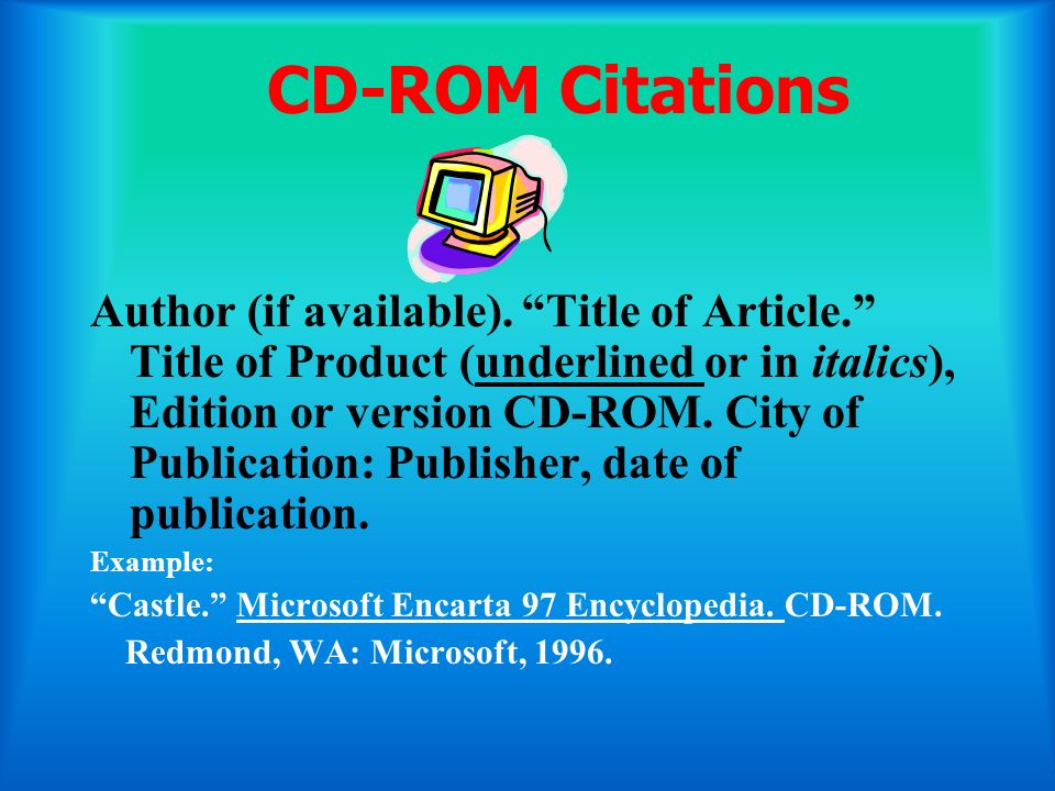 CD-ROM Citations