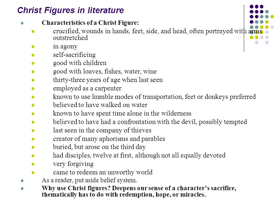 Christ Figures in literature