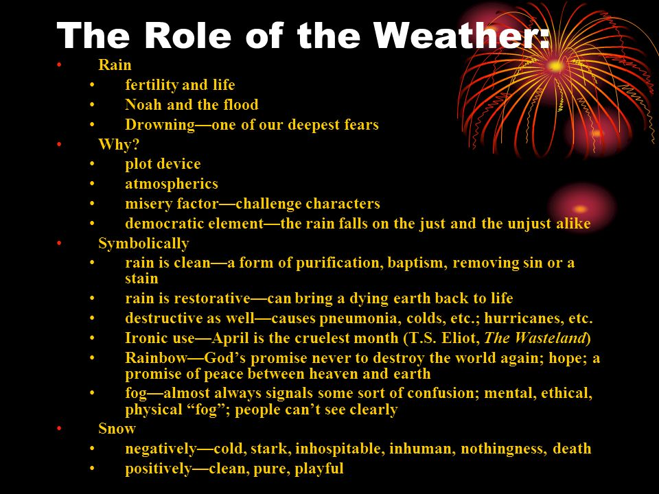 The Role of the Weather: