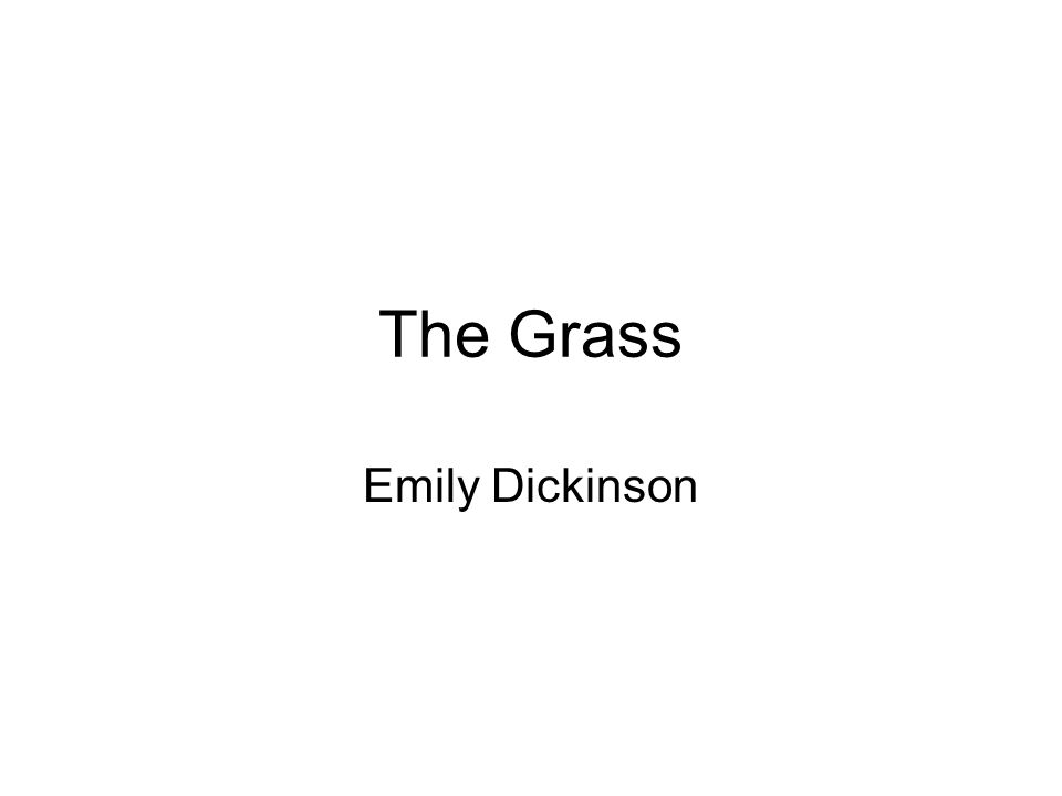 The Grass Emily Dickinson